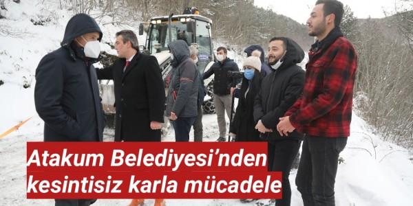 Atakum Belediyesi'nden  kesintisiz karla mücadele